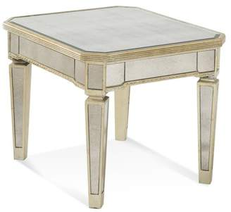 Bassett Mirror Borghese Mirrored Rectangle End Table