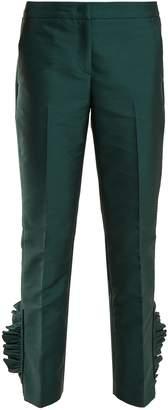 No.21 NO. 21 Ruffle-hem cropped trousers