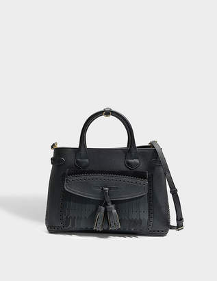 05ddb95cbc02 Burberry Medium Banner Bag in Black Grained Calfskin