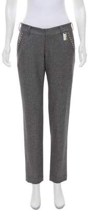 Thomas Wylde Embellished Low-Rise Pants