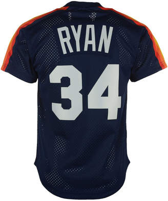 Mitchell & Ness Men Nolan Ryan Houston Astros Authentic Mesh Batting Practice V-Neck Jersey