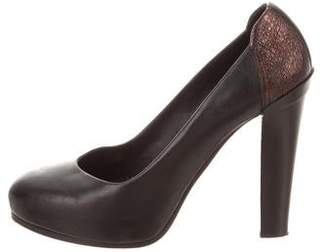 Rag & Bone Leather Platform Pumps