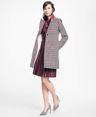 Wool Houndstooth Coat $298 thestylecure.com