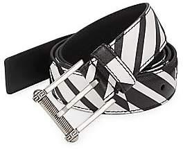Versace Men's Classic Saffiano Leather Belt