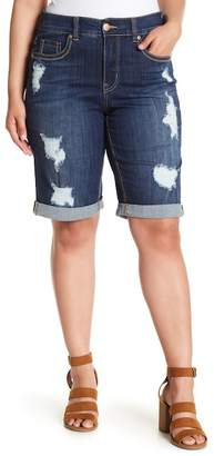 Melissa McCarthy Embroidered Pocket Rollup Shorts (Plus Size)