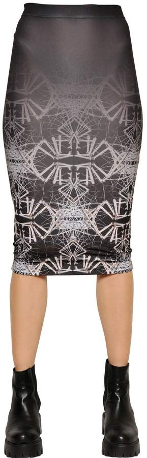 Marcelo Burlon County of Milan Juarez Printed Jersey Pencil Skirt