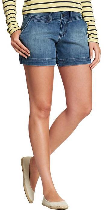 "Old Navy Women's The Flirt Denim Shorts (5"")"