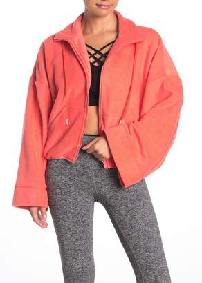 Free People Climb High Fleece Crop Jacket