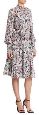 Erdem Eugenie Floral-Print A-Line Dress