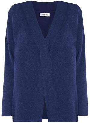 PAISIE - Navy Jumper With Criss Cross Detail