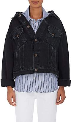Balenciaga Women's Off-The-Shoulder Denim Jacket