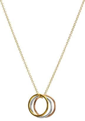 Dogeared Triple Karma Pendant Necklace