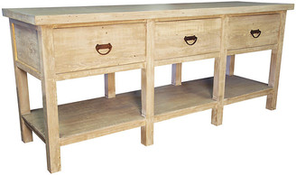 CFC Reclaimed 3-Drawer Console - Unfinished