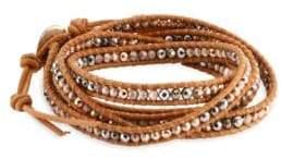 Chan Luu Rose Gold Hematite Mix Wrap Bracelet