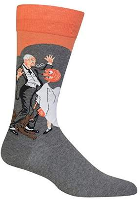 Hot Sox Men's Norman Rockwell Collection Crew Socks