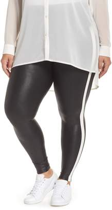 Spanx R) Side Stripe Faux Leather Leggings