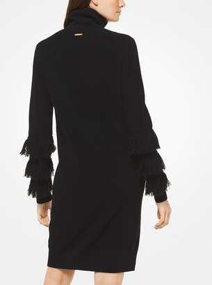 MICHAEL Michael Kors Wool-Blend Turtleneck Dress