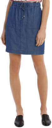 Skirt Tencel With Tie Detail
