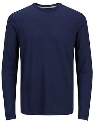 Jack and Jones Long-Sleeve Cotton Sweatshirt