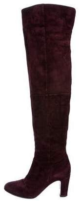 Chanel CC Over-The-Knee Boots