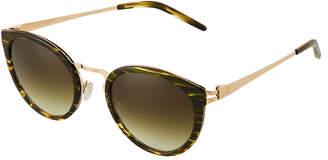 Barton Perreira Round Tortoiseshell Acetate/Metal Sunglasses