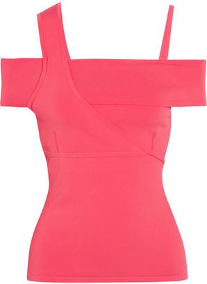 Jason Wu - Asymmetric Stretch-knit Top - Pink $695 thestylecure.com