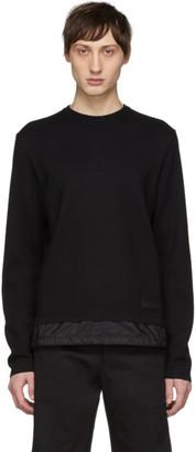 Prada Black Bi-Fabric Sweater