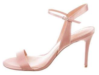 Halston Satin Ankle-Strap Sandals