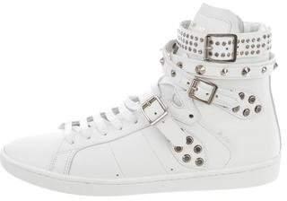 Saint Laurent Signature Court Classic Studded Sneakers