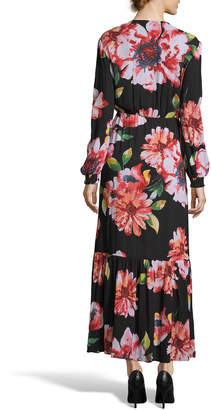Label By 5twelve Floral Button-Detail Flounce Maxi Dress