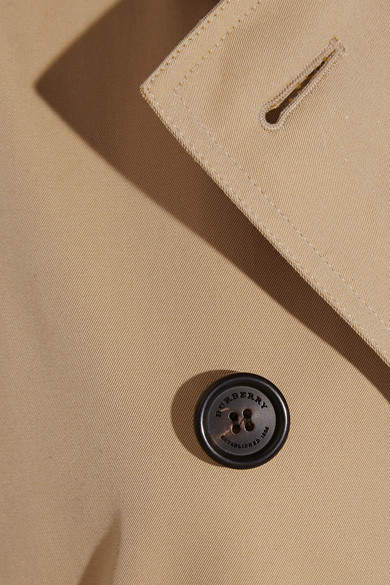 Burberry - The Kensington Mid Cotton-gabardine Trench Coat - Sand 3