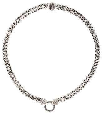 David Yurman Diamond Double Wheat Chain Necklace