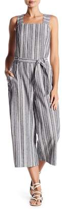 Vince Camuto Striped Belted Crop Jumpsuit