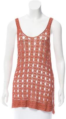 Elizabeth and James Sleeveless Crocheted Top