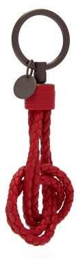 Bottega Veneta Intrecciato Leather Knot Key Ring - Mens - Red