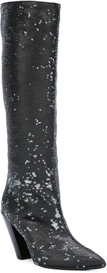 A.F.Vandevorst sequined knee high boots