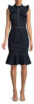 Cooper St Ruffled Fit-and-Flare Dress