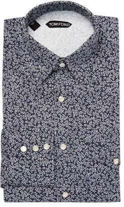 Tom Ford Floral Print Dress Shirt