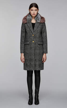 Mackage HENRITA-GX classic wool jacket with removable fur collar