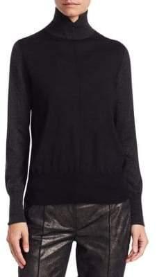 Akris Bi-Color Turtleneck Sweater
