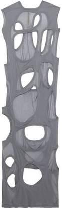Rick Owens Cutout Slub Cotton-jersey Maxi Dress