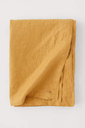 H&M Washed Linen Tablecloth - Yellow
