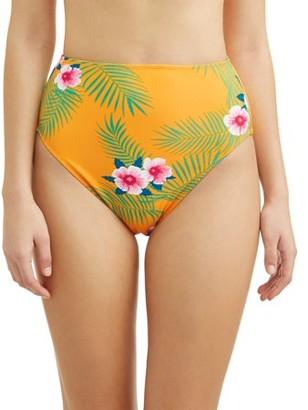 No Boundaries Juniors' Retro Tropical Swimsuit Bottom