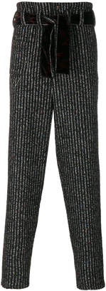 Damir Doma belted striped trousers