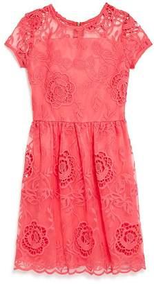 Aqua Girls' Lace Fit-and-Flare Dress, Big Kid - 100% Exclusive