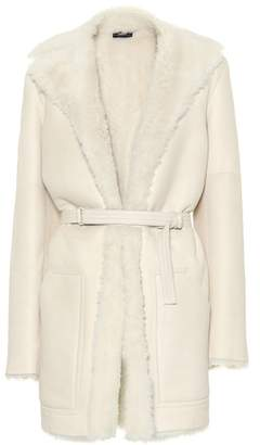 Joseph Hank Short leather and shearling coat