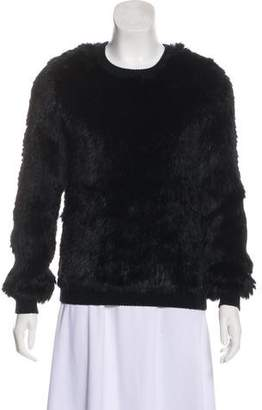 Opening Ceremony Fur Knit Sweater
