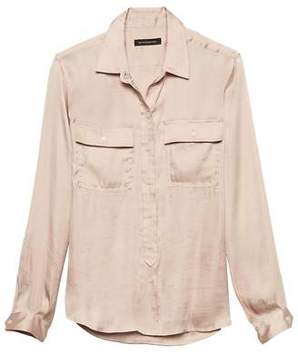 Banana Republic Dillon Classic-Fit Soft Satin Utility Shirt