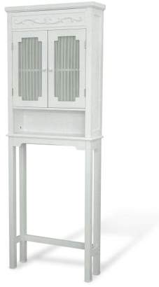 Elegant Home Fashions Lisbon Collection Shelved Bathroom Space-Saver