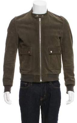 The Kooples Sport Suede Zip-Up Jacket